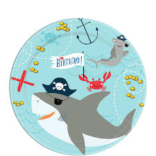 Super Pirate Shark 3rd Birthday Party Kit For 36 Guests Party City