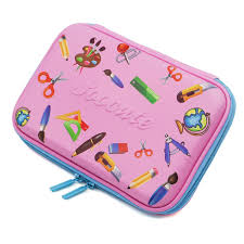 Amazon.com : School Girls Cute Hardtop Pencil Case Holder Big Pencil Box  With Compartment For Kids (Pink Stationery) : Office Products