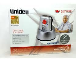 uniden sse p1 pendant emergency alert pendant for the sse 35 37 cordless phone series catch com au