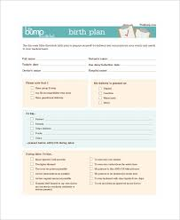 What Is A Birth Plan Example Birth Plan Example 10 Samples In Word Pdf