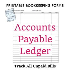Account Ledger Printable Free Bookkeeping Forms And Accounting Templates Printable Pdf