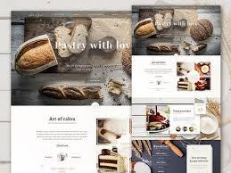 Bakery Psd Website Template Freebiesbug