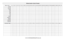 50 Actual Menstrual Chart Template