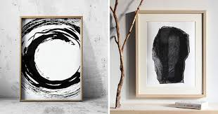 wall art ideas 14 ideas for black and white abstract wall art on white black wall art with wall art ideas 14 ideas for black and white abstract wall art
