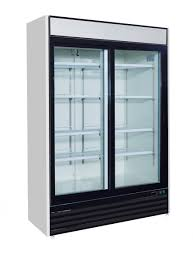 48cf 2 door commercial glass sliding door merchandiser refrigerator cooler