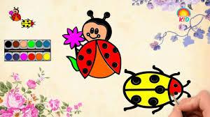 Bé Tập Vẽ Và Tô Màu Bọ Cánh Cam   Có Hình Tải Về   How to Draw and Color  Orange beetle?   hình tô màu cho bé