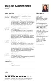 Intern Resume Examples Awesome Production Intern Resume Samples VisualCV Resume Samples Database