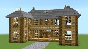 Big Minecraft House Designs Minecraft How To Build A Big Wooden Mansion