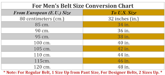 Belt Conversion Chart Cm A Sizing Chart For Those Men Who Are Unsure What Their Size