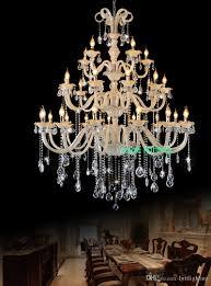 Großhandel Großer Antiker Kronleuchter Zeitgenössisches Hotel Vila Lobby Kristall Kronleuchter Im Europäischen Stil Luxus Kristall Kronleuchter Kerze