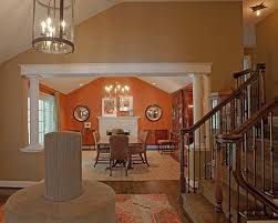 Plain Dining Room Paint Ideas With Accent Wall Best 25 Orange Walls On For Design Inspiration