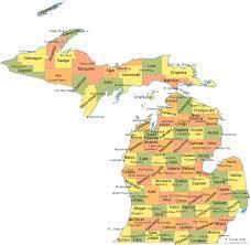 michigan county map