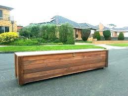 garden storage bench small outdoor