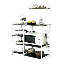 bakers rack outdoor wrought iron white bakers rack outdoor