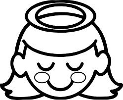 Small Picture Halo A Little Girl Angel With Halo Over Her Head Coloring Page