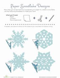 Kids love cutting them out and sticking them on. Paper Snowflake Patterns Worksheet Education Com Paper Snowflake Patterns Paper Snowflake Template Paper Snowflakes
