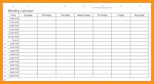 One Week Calendar With Hours Glazkov Info