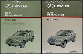 2001 lexus rx 300 wiring diagram manual original 2001 lexus rx 300 repair shop manual original 2 volume set 229 00