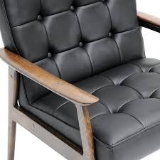 com baxton studio stratham mid century modern club chair black kitchen dining