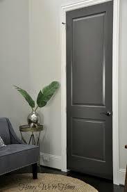 Interior Door paint interior doors photographs : Dark Gray Painted Interior Doors - Black Fox, Sherwin Williams. I ...