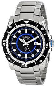 amazon com bulova men s 98b177 marine star stainless steel watch bulova men s 98b177 marine star stainless steel watch