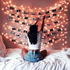 Polaroids + lights = really cute room decor!