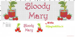 dish towels cocktail bloody mary free cross stitch patterns