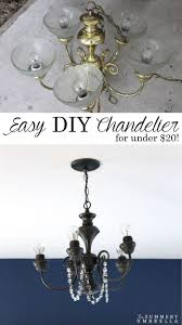 easy diy chandelier for our master bedroom
