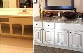 Refinishing Bathroom Cabinet Resurface Bathroom Vanity Top Replacing Interesting Refinishing Bathroom Vanity