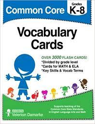 Amazon Com Common Core Vocabulary Cards Black White