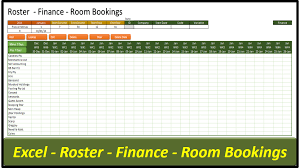 Pivot Excel Data Roster Database Room Bookings Or Income