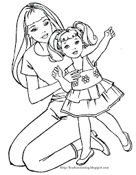 Barbie Coloring Pages To Print Pics For Mermaid Page Games Mermai