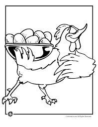 Small Picture Chicken Coloring Pages Animal Jr