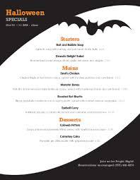 restaurant menu design app spooky halloween menu design templates by musthavemenus