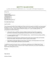 English Teacher Cover Letter Example Middle School Teacher Cover