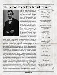 Newspaper Editorial Template 12 Page Newspaper Template Adobe Indesign 8 5x11 Inch