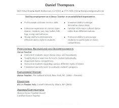 Modern Dance Resume Sample Dance Resume Dance Resume Examples Dance Resume Sample Dancer