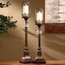 full size of interior antique wall candle holder with bronze two light pillar candle holders