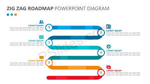 Road Map Powerpoint Zig Zag Roadmap Powerpoint Diagram Pslides