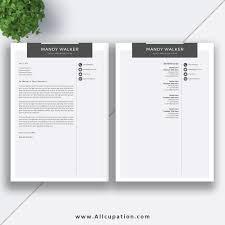 Creative Resume Cover Letter Creative Resume Template Cover Letter Word Modern Simple Teacher 6