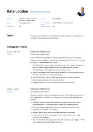 Veterinary Resume Samples 100 Veterinary Technician Resume Templates ResumeViking 20