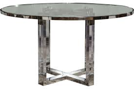 aico michael amini state st round dining table with glass insert