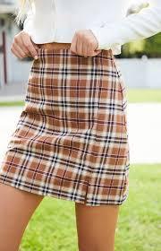 Pacsun Skirt Size Chart John Galt Plaid Cara Skirt In 2019 Plaid Outfits Plaid