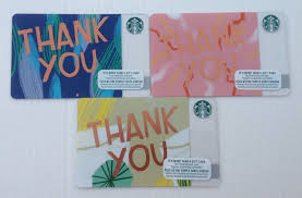 starbucks 2018 gift card thank you set of 3 canada 1 of 1