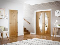 rno internal oak door with clear glass lifestyle roomshot 2