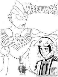 ultraman coloring pages printable 3