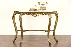 SOLD Italian Carved 1930s Antique Burnished Gold Hall Console