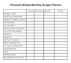 Personal Expenses Worksheet Personal Budget Weekly Expenses Worksheet Template In Excel