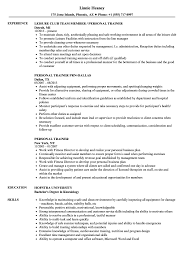 personal training resume samples personal trainer resume samples velvet jobs