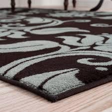 lavish home fl scroll brown blue area rug reviews wayfair regarding and ideas 4